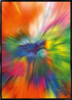 Diversity, farverig plakat fra Inda Art som symboliserer mangfoldigheden
