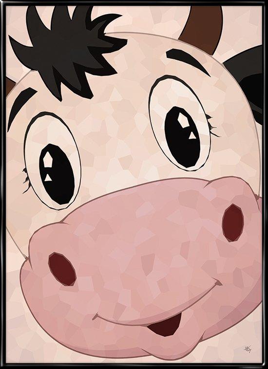 Koen siger muh, plakat fra Inda Art til børneværelset
