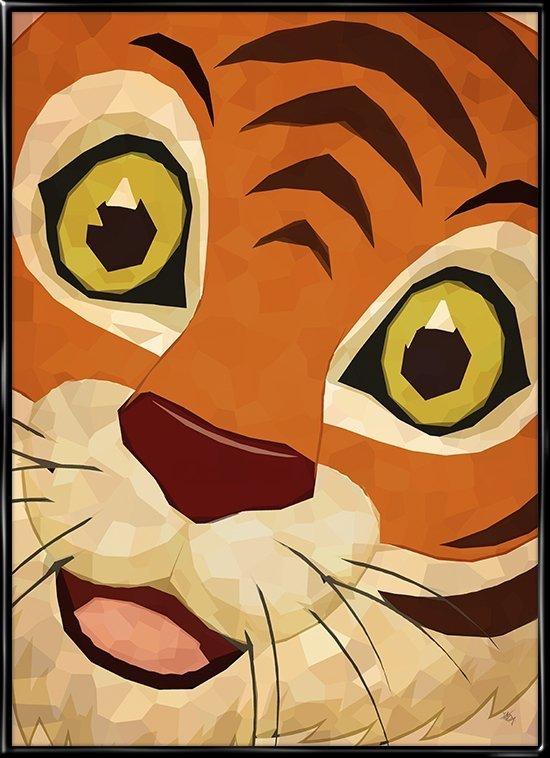 Tigeren brøler, plakat fra Inda Art til børneværelset