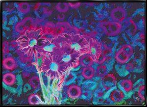 Psychedelic Flowers, plakat fra Inda Art
