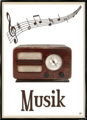 Retro Musik, plakat fra Inda Art