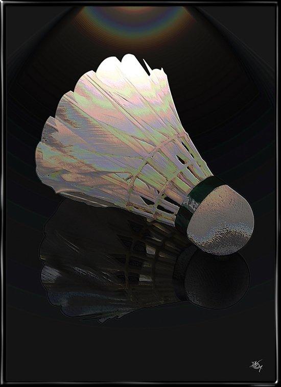 Badminton Artified, plakat fra Inda Art