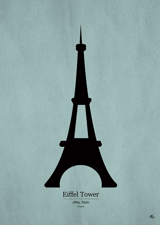 Eiffel Tower, postkort fra Inda Art, en del af Wonders Collection