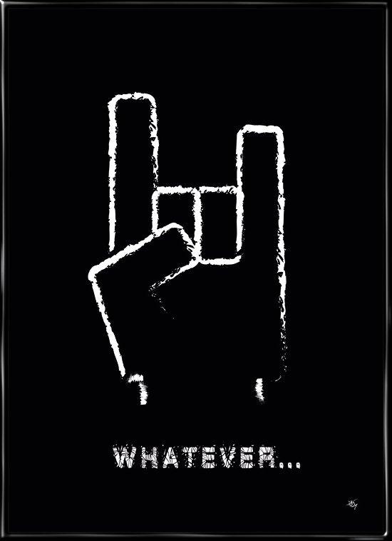 Whatever, plakat fra Inda Art til teenageren eller rockelskeren