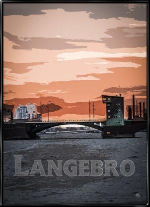 Langebro, Kim Larsen inspireret plakat fra Inda Art