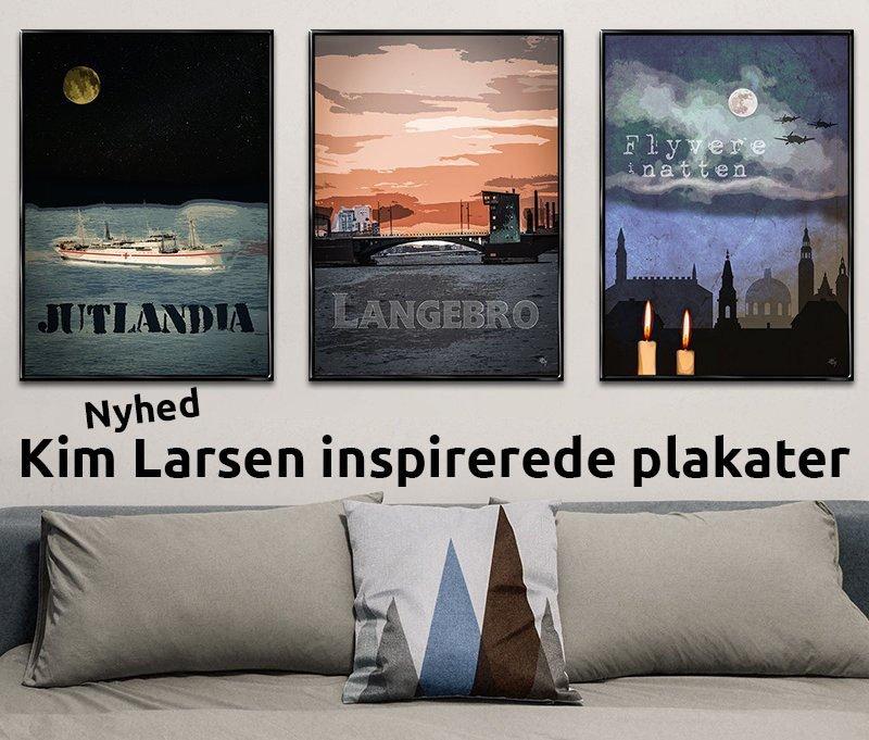Kim Larsen inspirerede plakater fra Inda Art