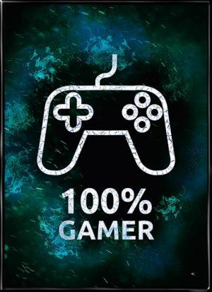 100% GAMER (konsol), plakat fra Inda Art