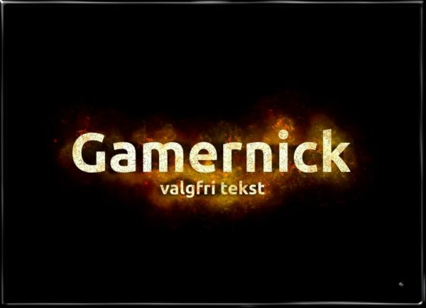 Dit gamer nick, plakat fra Inda Art