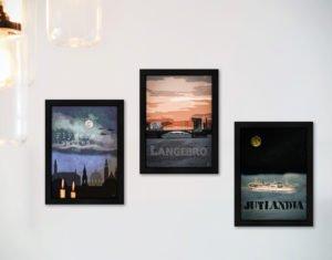 Postkort med Kim Larsen motiver fra Inda Art