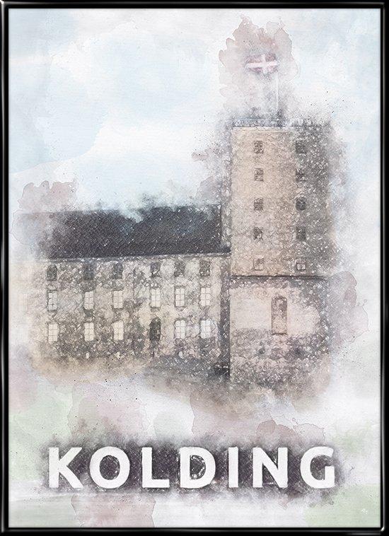 Kolding, by plakat fra Inda Art med Koldinghus