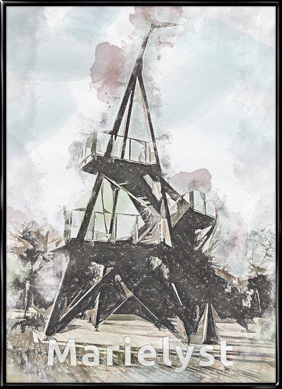 Marielyst, by plakat fra Inda Art