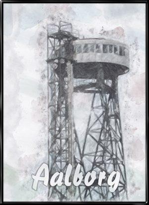 Aalborg, by plakat fra Inda Art