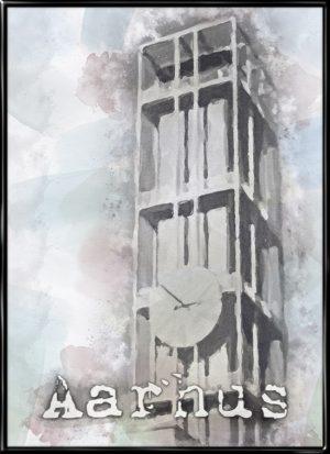 Aarhus, by plakat fra Inda Art