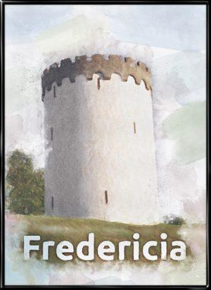 Fredericia, by plakat fra Inda Art