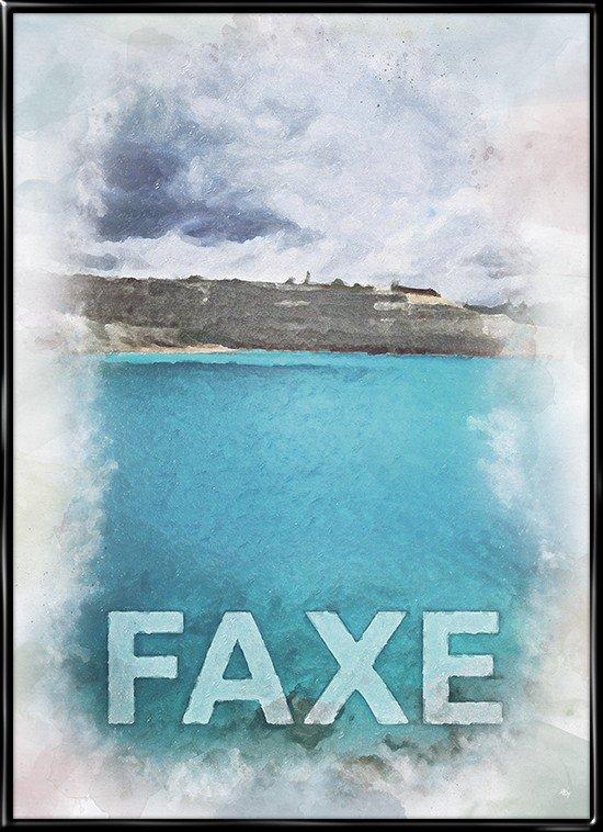 Faxe, by plakat fra Inda Art