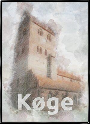 Køge, by plakat fra Inda Art
