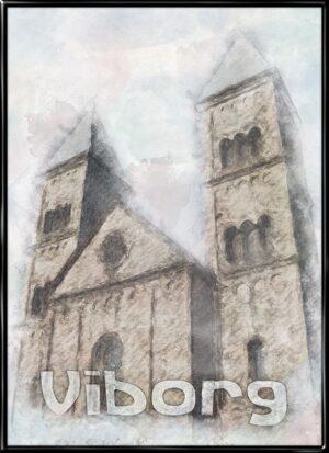 Viborg, by plakat fra Inda Art