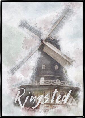 Ringsted, by plakat fra Inda Art