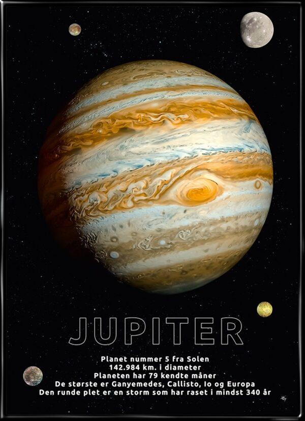 Jupiter, astronomi plakat fra Inda Art med Solsystemets 5. planet