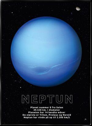Neptun, astronomi plakat fra Inda Art med Solsystemets 8. planet