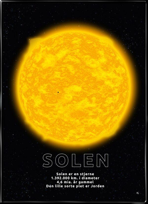 Solen, plakat fra Inda Art med Solen
