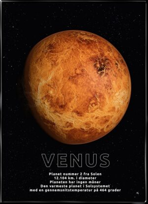 Venus, astronomi plakat fra Inda Art med Solsystemets 2. planet