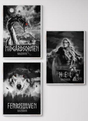 Ragnarok serien, plakater fra Inda Art
